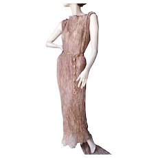 ca 1960's Gold Metallic Adjustable Gown