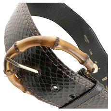 1980's Yves Saint Laurent Rive Gauche Snake Belt