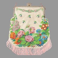 ca 1920's Micro Beaded Purse Remarkable Condition