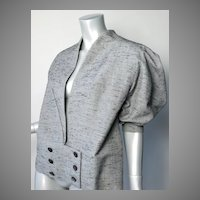 1940's Paris Custom Made Silk Shantung Suit