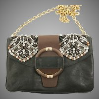 Valentino Caravan Beaded Handbag Purse