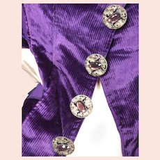 Silk Velvet Corduroy Edwardian Jacket Incredible Details and Buttons