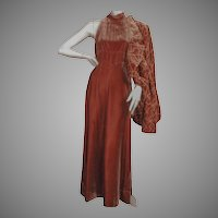 Donald Brooks 1970's Velvet Gown and Jacket