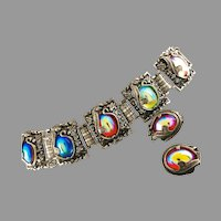 MUST HAVE Judy Lee Bracelet & Earrings ca 1960