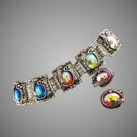 MUST HAVE Judy Lee Bracelet & Earrings ca 1960