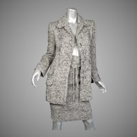 Yves Saint Laurent Paris Woven Wool & Mohair Suit Vintage