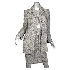 Yves Saint Laurent Paris Woven Wool & Mohair Suit Vintage