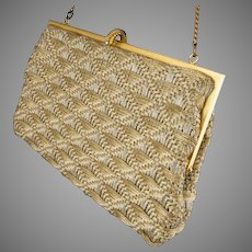 Gold & Silver Metallic Woven Purse *1950's