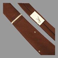 Gilbert Adrian 1950's Silk Tie Aged Burgundy Unworn