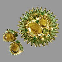 Juliana D&E Gorgeous Tiered Domed Brooch Earrings