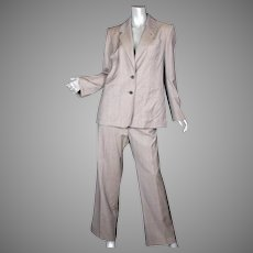 1990's Yves Saint Laurent Rive Gauche Micro Plaid Suit F46
