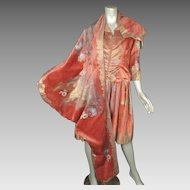 1920s Dress Fortuny Stencilled Velvet Italy