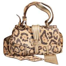 Valentino Caravan Leopard Print Pony Purse Handbag and Belt Reversible