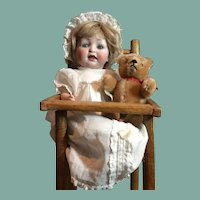 "Antique 10""tall Bisque Baby -152"