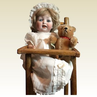 """Antique 10""""tall Bisque Baby -152"""