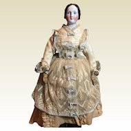 "21"" Antique Bun China- Fantastic Outfit"