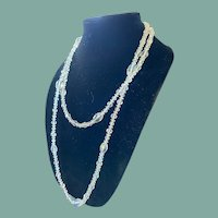 "Vintage Swarovski Crystal Opera Length Necklace 26"""