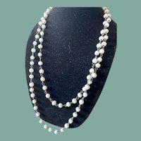"""Antique Milk Glass Flapper Necklace-29"""""""