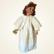 Antique Carriage Coat With Embroidery For Doll