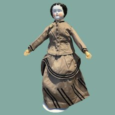 "Antique 20"" tall China Head Doll"