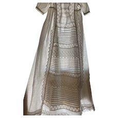Beautiful Eyelet Cotton Christening Gown