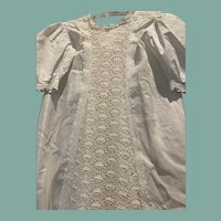 Antique Embroidered Christening Gown and Matching Slip
