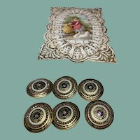 Set of 6 Exquisite Antique Buttons