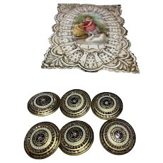 Set of 6 Exquisite Antique Buttons