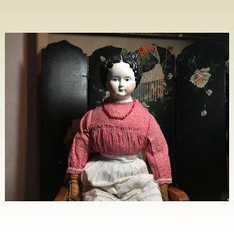 "Antique Greiner China Head Doll-24"" Tall"