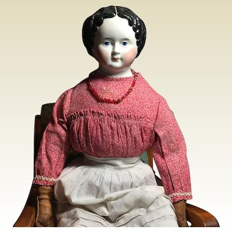 "Antique Greiner China Head Doll-24"" Tall- On Sale!"