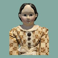 "36"" Tall Antique Greiner Paper Mache Doll"