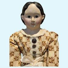 """36"""" Tall Antique Greiner Paper Mache Doll"""