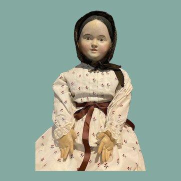 Big Beautiful Antique German Papier-mâché Doll