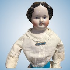 """Antique China Head Doll with Vintage Clothes -28""""-CLEARANCE PRICE!"""