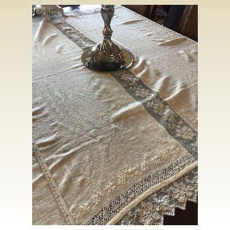 Gorgeous Handwoven Linen Tablecloth