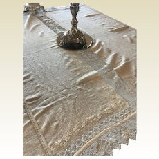 Gorgeous Handwoven Linen Tablecloth