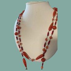 Antique Murano Glass Flapper Necklace