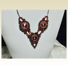 Bead Weave Necklace-Chili Pepper