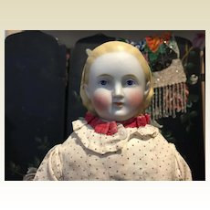 "Antique 18"" Alice Parian Bisque Doll"