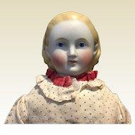 """Antique 18"""" Alice Parian Bisque Doll"""
