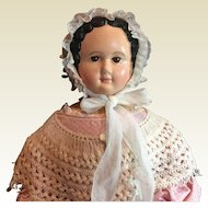 "Beautiful Antique Paper mache Doll -31"" tall"