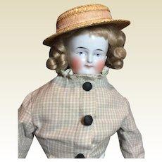 """Antique Sweet Biedermeier China -18"""" Tall"""