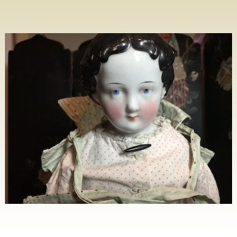 """Sweet 17"""" Antique China Head Doll"""