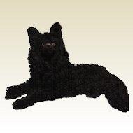 Rare Black French Lou Lou Mohair Pajama Dog