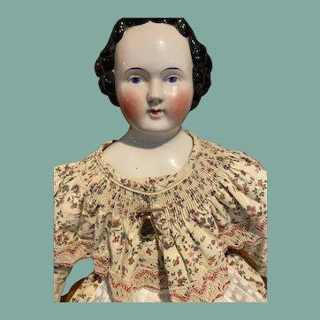 "Beautiful 28"" Tall Kestner Antique China Head Doll!"