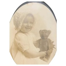 Set of 6 Real Photo Post Cards- Children with Teddy Bears!!