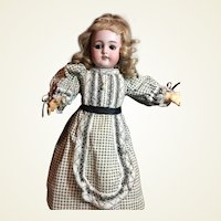 "Darling 15""Cabinet Size Antique S&H Doll"