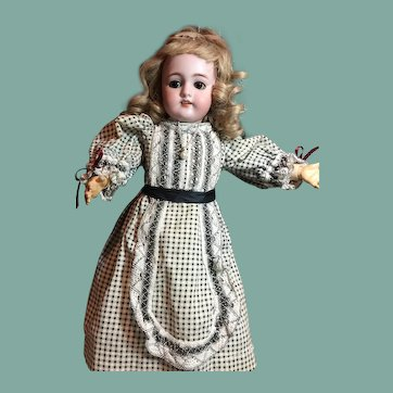 """Darling 15""""Cabinet Size Antique S&H Doll"""