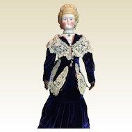"Antique Empress Augusta Parian-23"" Tall- Sale As Is!"