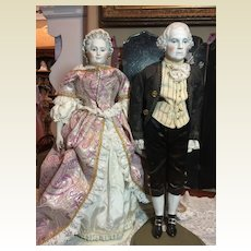 Fabulous Emma Clear George & Martha Washington Dolls